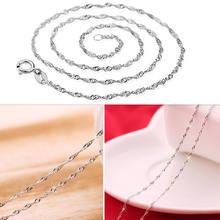 Женские волнистые цепи с серебряным покрытием 5 шт оптовая продажа