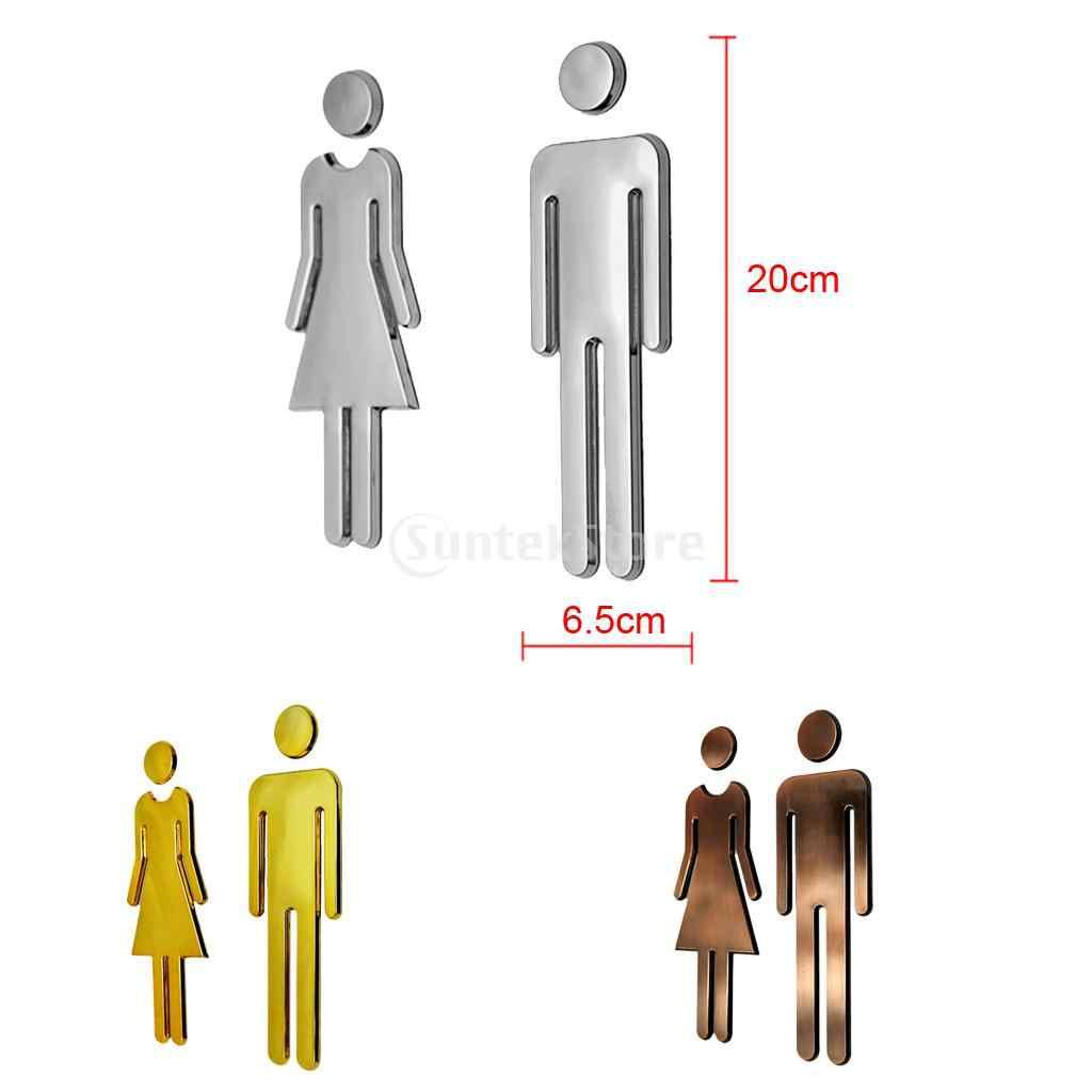 Мужская и женская наклейка на унитаз WC наклейки знаки для туалета Санузел вывеска для магазина офиса дома отеля Декор для ресторана