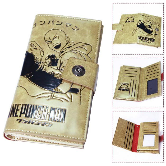 Anime Cartoon One Punch Man Wallets PU Leather Slim Purse Young Boys Girls Student Long Wallet 2016 anime one punch man wallets cute pu short cartoon long purse ab195