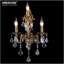 100 Garantieren Kristall Wandleuchte Messing Farbe Wandlampen Lampe Bronze Wandhalterungen Licht Fr Schlafzimmer Wohnzimmer