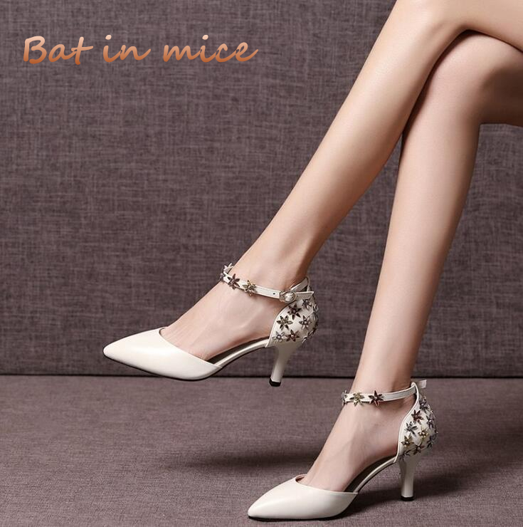 High quality Genuine Leather New sandals Women Pointed Toe Cowhide Female Shoes High Heels Sexy Fashion Wedding Pumps shoes C521 2pcs lot ip camera poe onvif 2 4 vandalproof dome 3 6mm lens 720p hd 1080p indoor 8m ir night vision security camera ip 2mp