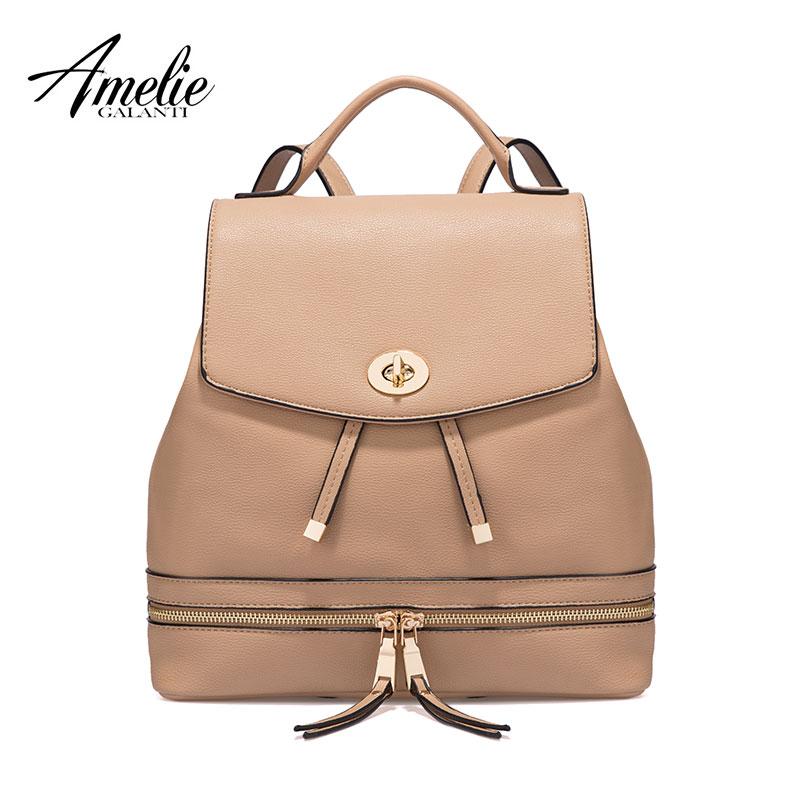 AMELIE GALANTI Женский рюкзак модные удобный большой емкости теперь самые популярные модели может быть плечом к плечу много цветов