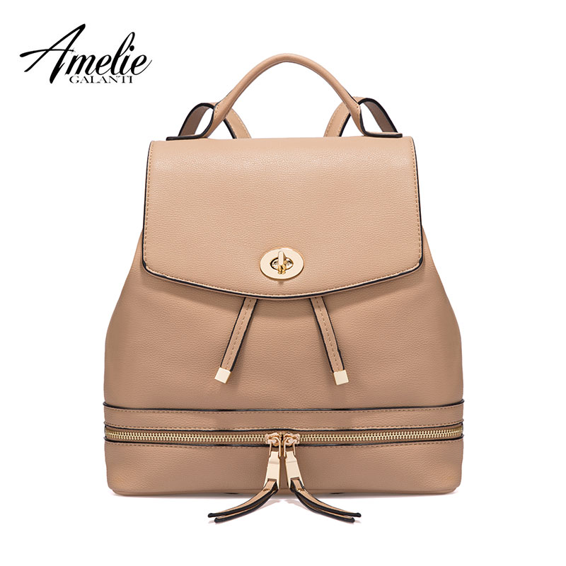 AMELIE GALANTI Female Bag backpack fashion leather women large capacity backpack multi-pocket school bag for teenager amelie galanti ms backpack fashion convenient large capacity now the most popular style can be shoulder to shoulder many colors