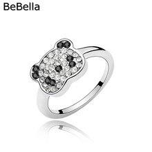 BeBella panda палец кольцо сделано с чешскими кристаллами для девочек Дети Женщины мода ювелирные изделия подарок