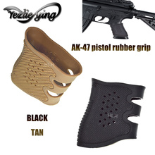 Tactical Pistol Rubber Grip Gloves Sleeve Slip For Most 17 AR15 M4 AK-47 Airsoft Hunting, High Quality