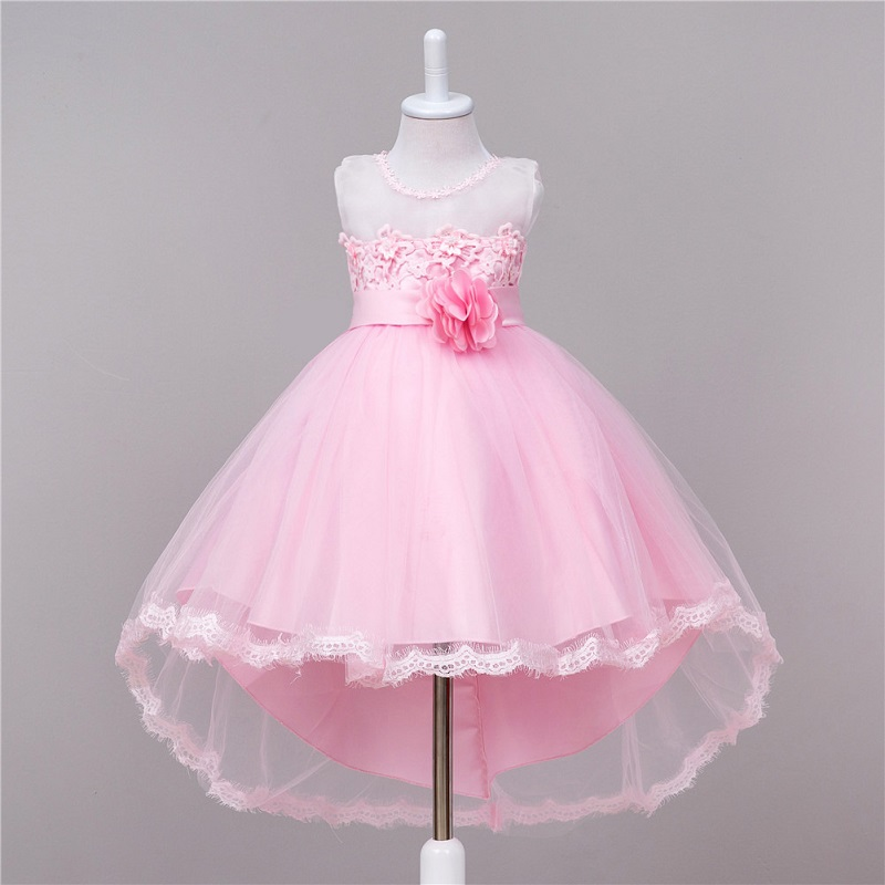 Princess Dresses Party Lace Long Tail tutu Dress Wedding girls Kids Dress For baby Girls clothes 2-10T,Children Clothing 3 color girls dress winter 2016 new children clothing girls long sleeved dress 2 piece knitted dress kids tutu dress for girls costumes