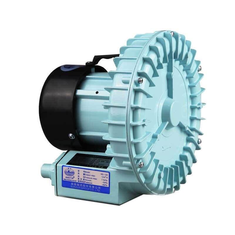 Pompe à Air d'oxygène à haute pression de 90 w 12 m/H-5KPA pour le compresseur d'air septique d'étang de culture hydroponique d'aquarium soufflante d'air de sortie de 10