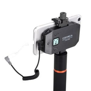 Image 3 - COMICA CVM WS50 () UHF ערוצים גריפ מרחוק מערכת מיקרופון Lavalier אלחוטי Smartphone עם Bluetooth עבור iPhone סמסונג