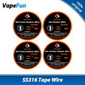 100% Original 10ft GeekVape Clapton SS316 Tape Wire DIY Friendly High Quality Wire with Four Options from Geekvape