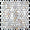 Natural Color 100 Chinese Freshwater Shell Mother Of Pearl Mosaic Tile For Interior House Decoration Round