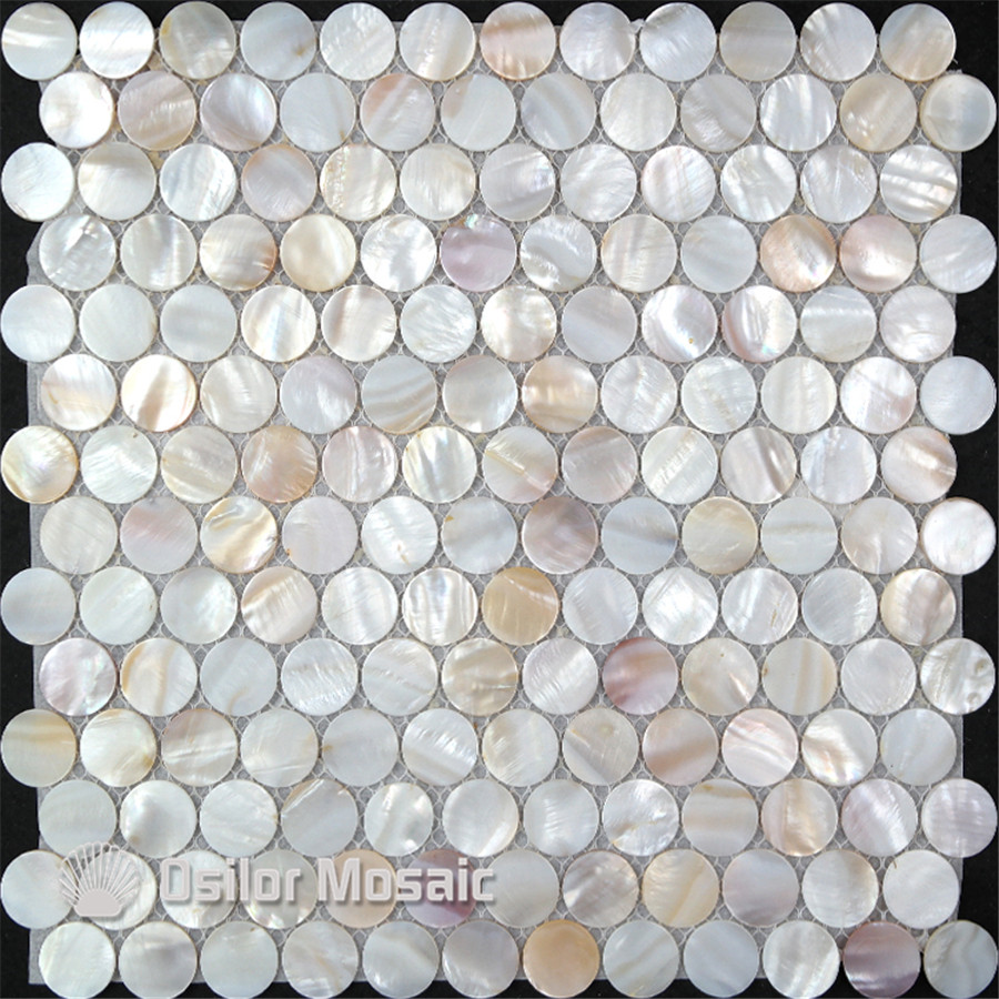 natural color 100% Chinese freshwater shell mother of pearl mosaic tile for interior house decoration round chips wall tiles brick pattern 100% blacklip sea shell natural black color mother of pearl mosaic tile for interior house decoration wall tiles