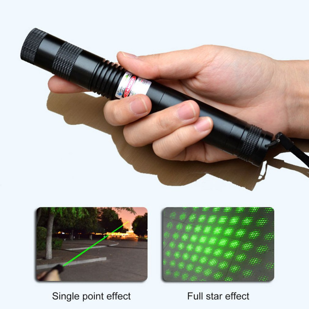 LED Flashlight 1000mw Laser 303 Green Power High Power Laser Torch light Led Night Light with 18650 Battery element ex276 peq15 battery case military high precision red dot laser integrated with led flashlight red laser and ir lens