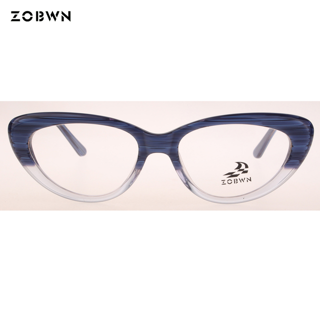 84900b83d7a ZOBWN new arrival Fashion Women Cat Eye Glasses Frame Retro Eyeglasses  Ladies Vintage Spectacles Frame Clear