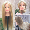 26''Blonde Professional Styling Head Wig Head Stand Women Makeup Hairdressing Dummy Doll Training Mannequin Head
