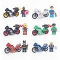 Vingadores de Super-heróis da DC arma Militar Motocicleta Homem De Ferro Modelo de Blocos de Construção Tijolos Compatível lepines brinquedos para as crianças