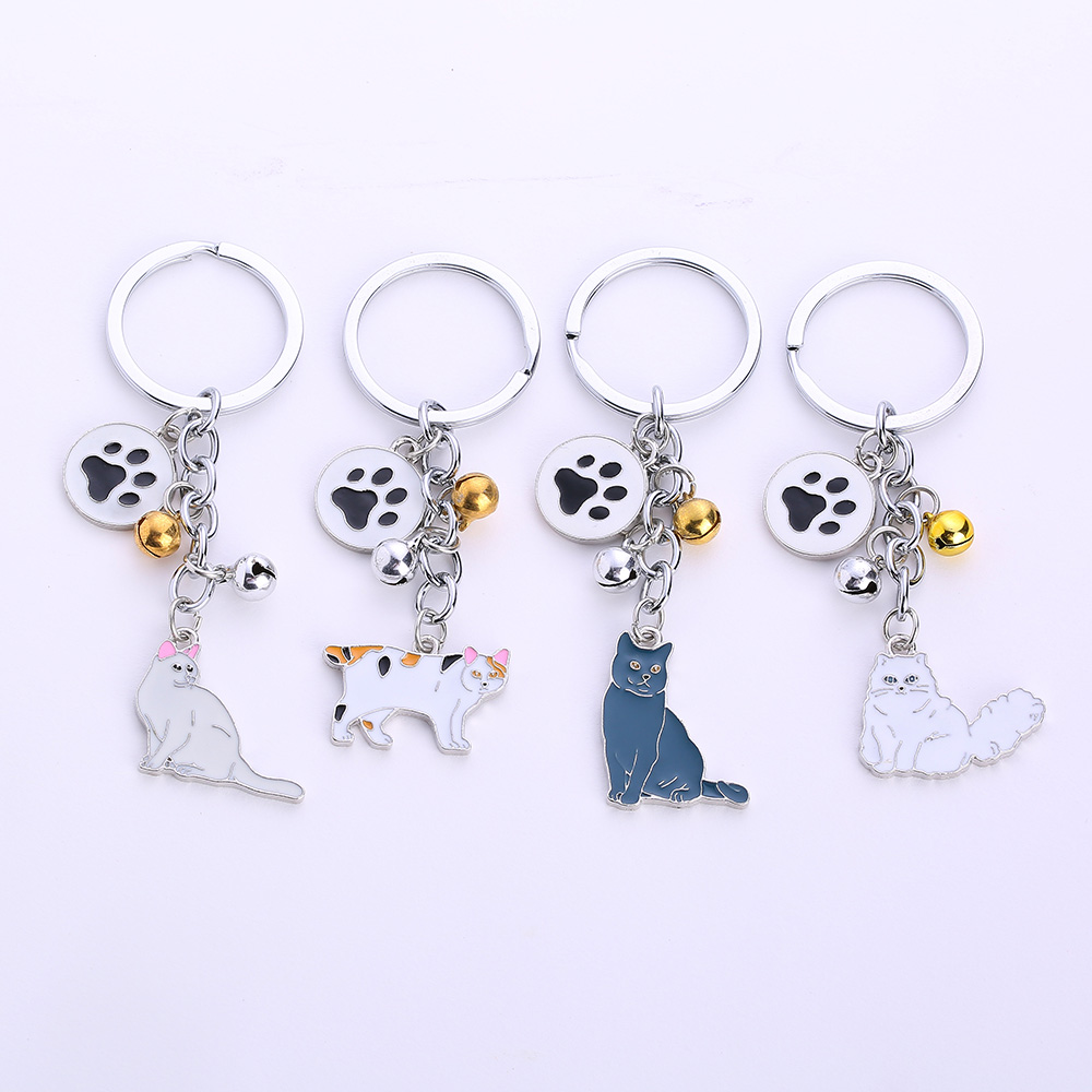 c7422e9b20 NEW Lovely Cat Keychain pet Charm keyring Cute Animal Fashion Jewelry For  Women Car Bag Accessories