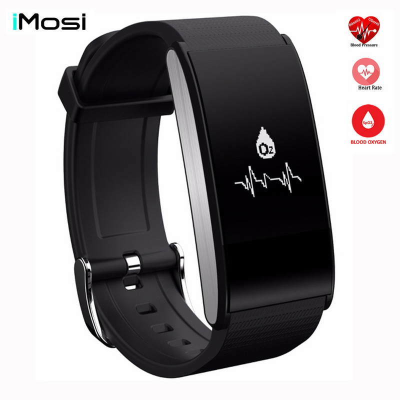 IMOSI A58 Smart Band Bracelet Blood Pressure Watch Heart Rate Blood Oxygen Monitor Sport Wristband Waterproof Fitness Tracker profession drones big quadcopter 2 4g 6 axis rc helicopter drone with gimble can add fpv wifi camera hd vs mjx x101