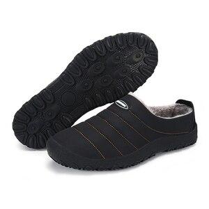 Image 2 - Christmas Winter Men Shoes Warm Plush Home Slippers Men Flip Flops Non slip Indoor Slippers Unisex Home Shoes zapatos de hombre