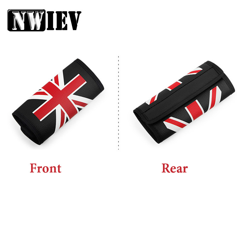 NWIEV Car Handbrake Cover Cases British Rice Pennant Leather Sets For Ford Fiesta Mondeo Suzuki Inifiniti Kia Rio Sportage Ceed