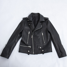 цены Genuine leather jacket female 2019 new fashion plus size black motobike real sheepskin leather jackets women clothes slim coat