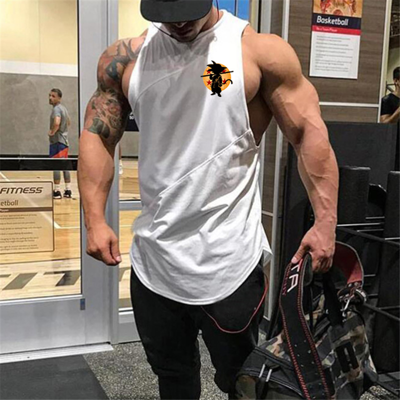 Summer Fitness Clothes Funny Dragon Ball   Tank     Top   Men Goku 2018 Sportswear O Neck Sleeveless shirt Men   tank   gyms vest