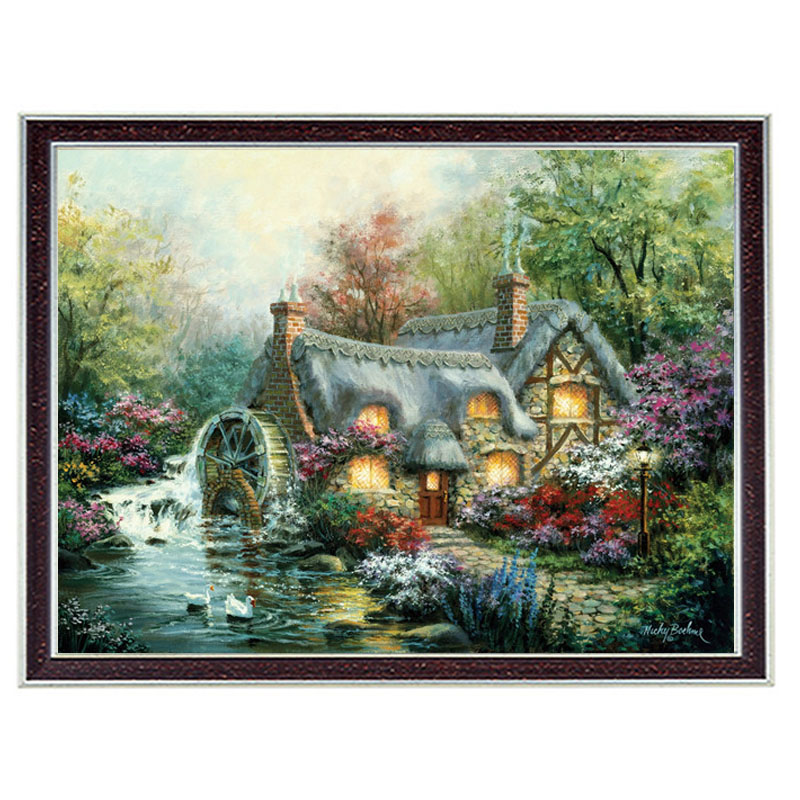 Needlework Crafts & Gift 14CT unprinted embroidery French DMC Quality Counted Cross Stitch Kit Home Decor