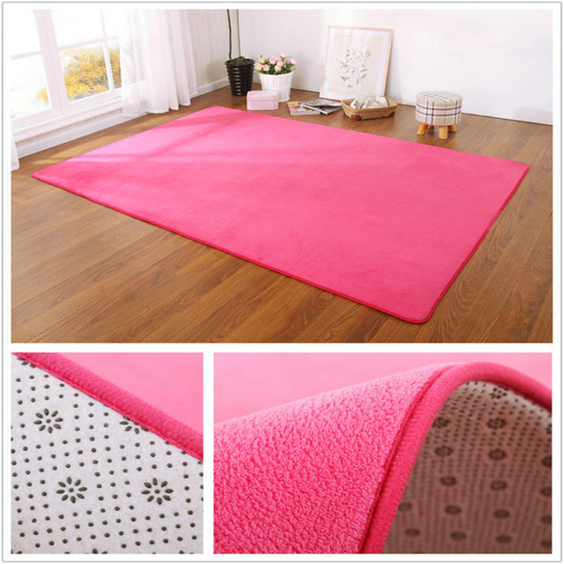 Coral Fleece Carpet Nordic Style Living Room Coffee Table Blanket Bedroom Bedside Bay Window Rug Children's Mat Baby Cushion