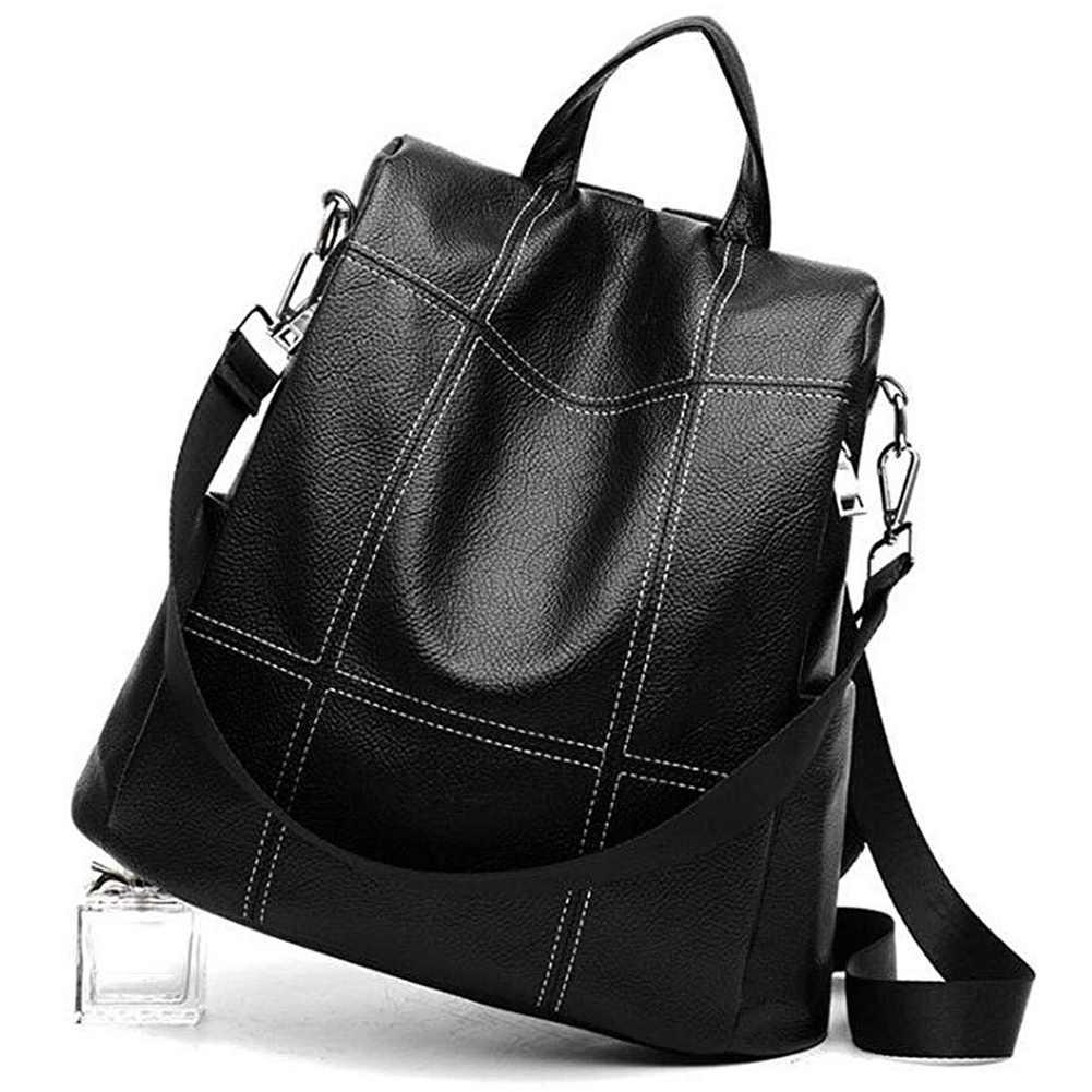 e01ecf9514f82 ... JHD-Women Backpack Purse Waterproof Pu Leather Anti-Theft Rucksack  Fashion School Shoulder Bag ...