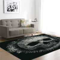 Large Rectangle Skull Carpet Polyester Fabric Decorative Bedroom Living Room Anti Slip Wrinkle Resistant Machine Washable Mats
