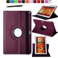 Magnetic 360 Rotating Smart Stand Cover Case for Samsung Galaxy Tab Pro 10.1 inch SM-T520 / T525 W/ Film & Stylus (Purple)