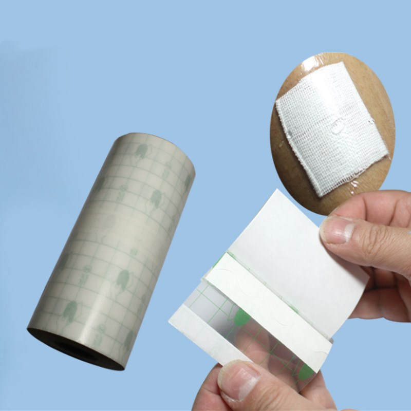 1 Roll Waterproof Transparent Adhesive Fixation Tape PU Film Roll Bandage Fixed Wound Dressing