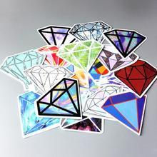 18 шт./лот, крутой бренд, случайные граффити, Кристальные бриллиантовые наклейки, скрапбукинг, скейтборд, водонепроницаемые ПВХ наклейки для ноутбука, багаж, упаковка