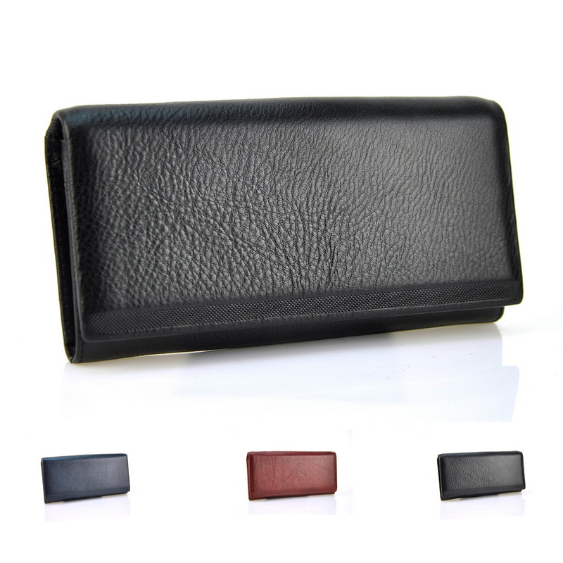 Bifold Fashion Genuine Leather Women Wallets Cellphone Hasp Coin Pocket Female Clutch Credit Card Holder Women Purse Wallet
