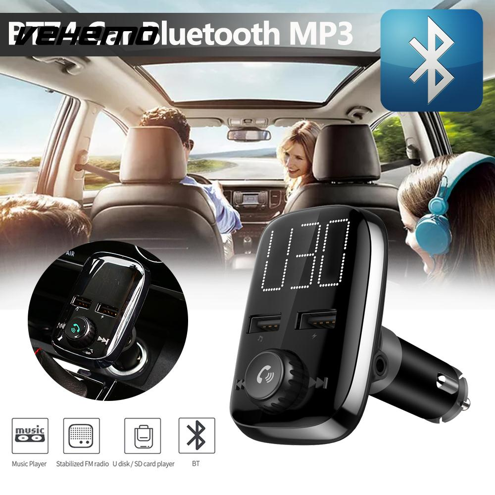 Vehemo 1.4 Inch Fast Charge Bluetooth Receiver Car Charger Wireless Bluetooth Receiver Bluetooth Audio Receiver Smart Universal