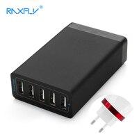 Raxfly 5ポートusb充電器usb充電器ac。ソース充電ステーションデスクトップユニバーサルeu au英国米国のためiphoneサムスンpcラップトップ