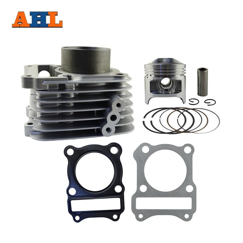 AHL alésage 57mm Kit de reconstruction de cylindre de moto pour SUZUKI GS125 GS 125 bloc de cylindre d'air et Kit de Piston et Kit de joint de culasse