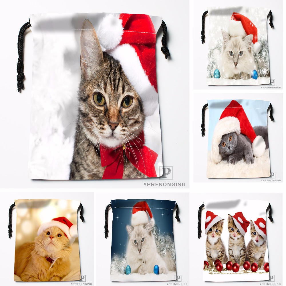 Custom Dogs Friends Christmas Dog Drawstring Bags Travel Storage Mini Pouch Swim Hiking Toy Bag Size 18x22cm#0412-04-215