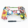 Custom 20 Colors Hydro dipped front face case cover for sony ps4 playstation 4 controller wireless replacement top housing shell