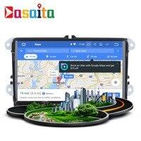 Stereo Head Unit 2 Din Android GPS For VW Passat Tiguan Golf Jetta Seat Skoda Auto