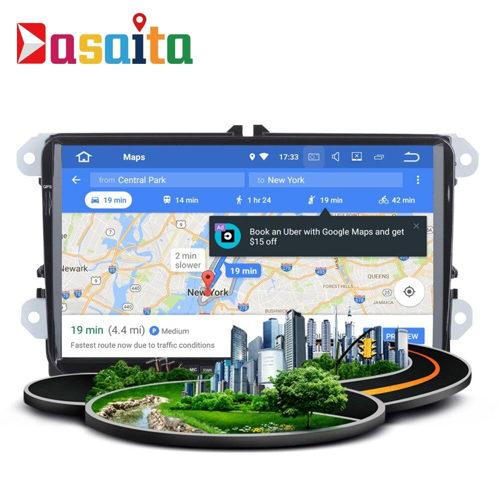 Stéréo Autoradio 2 Din android GPS pour VW Passat Tiguan Golf Jetta Siège Skoda auto-radio navigation 4 Gb + 32 Gb Android PX5 8-Core