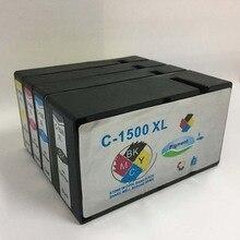 4pcs 1500 Compatible Ink Cartridge PGI 1500 XL for canon Maxify MB2050 MB2350 printer ink pgi 1500xl pgi-1500 1set pgi 1500 auto reset chip for canon pgi1500 pgi 1500 permanent chip for canon maxify mb2050 mb2350 for europe