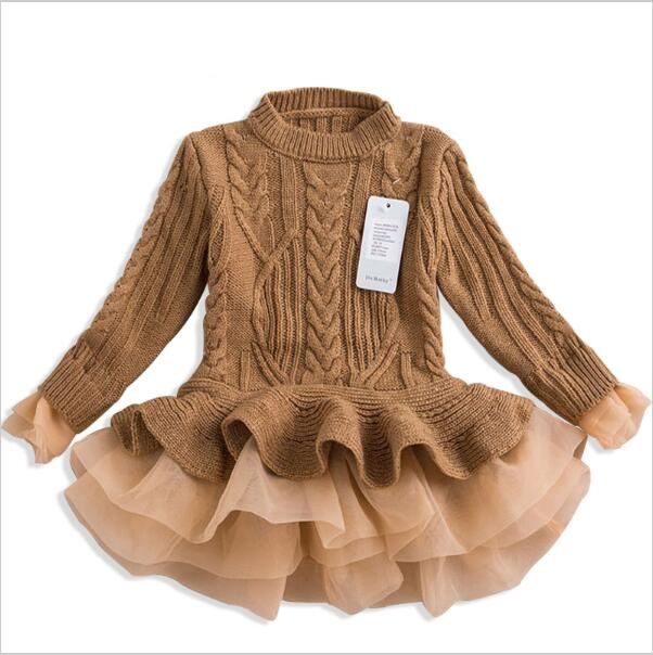 2-7years Thick Warm Girl Dress Christmas Wedding Party Dresses Knitted Chiffon Winter Kids Girls Clothes Children CLothing vidmid girl dress christmas wedding party dresses knitted chiffon winter kids girls long sleeve children clothes girl dress 4001