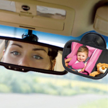 Installing rearview windshield visor suction view on mirror acrylic child seat