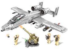 XINGBAO 06022 961 шт. Военный серии A10 набор «Штурмовик» строительные блоки модель самолета DIY Кирпичи игрушки Рождественский подарок для детей