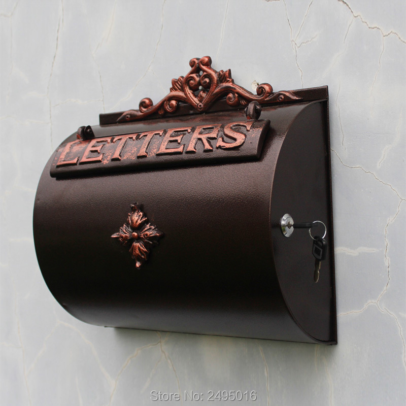 Wall Mount Mailbox Small Aluminum Mail Box Letter Box Brand New