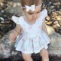 Летняя мода Новый Родившийся Ребенок Dress Милый печати Детские девушки одежда Для девочек Детей Детские Детская Одежда Девушки одежда