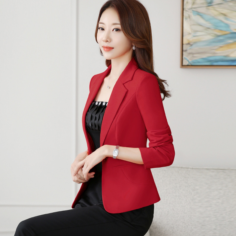 Blazer Mujer 2019 Fall Office Lady  Small Suit Women's Jacket Slim Solid Color Blazer Blazer De Mujer Bleser Femenino