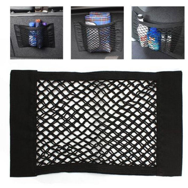 40*25cm New Car Back Rear Trunk Seat Elastic String Net Strong Magic Mesh Storage Bag Pocket Cage for Car Stylings car net mesh