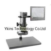 HD 2.0MP VGA USB Microscope Industrial Lab Camera VGA USB + 180X / 300X C Bayonet Lens + 144 LED Light + Large Stand + 8 LCD