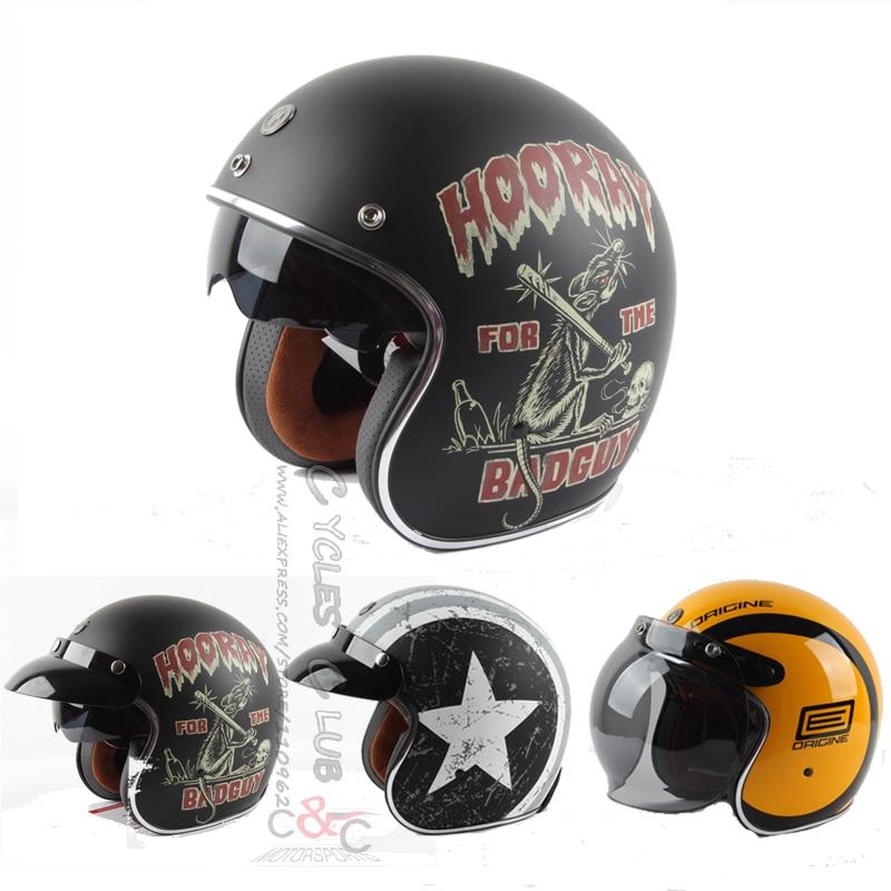 ФОТО TORC T57 vintage 3/4 motocross cascos para moto helmet Built-in visor ECE certification Casco Capacete Jet retro Vintage helmet
